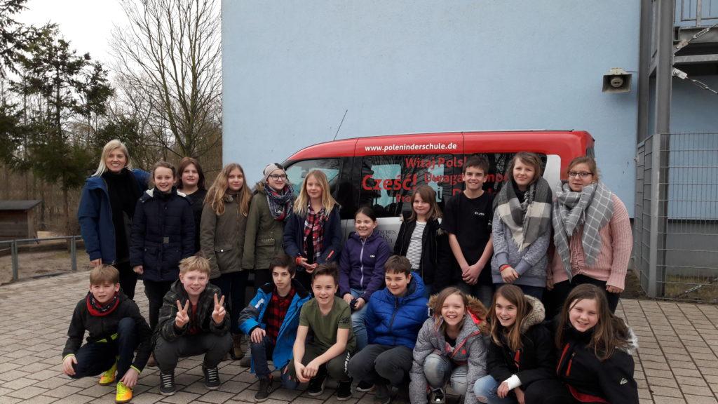 Das PolenMobil zu Besuch an der Schule