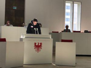 9. Klasse im Brandenburgischen Landtag
