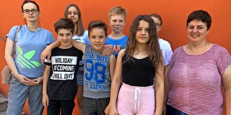Polnische Kinder auf Stippvisite in Lehnin