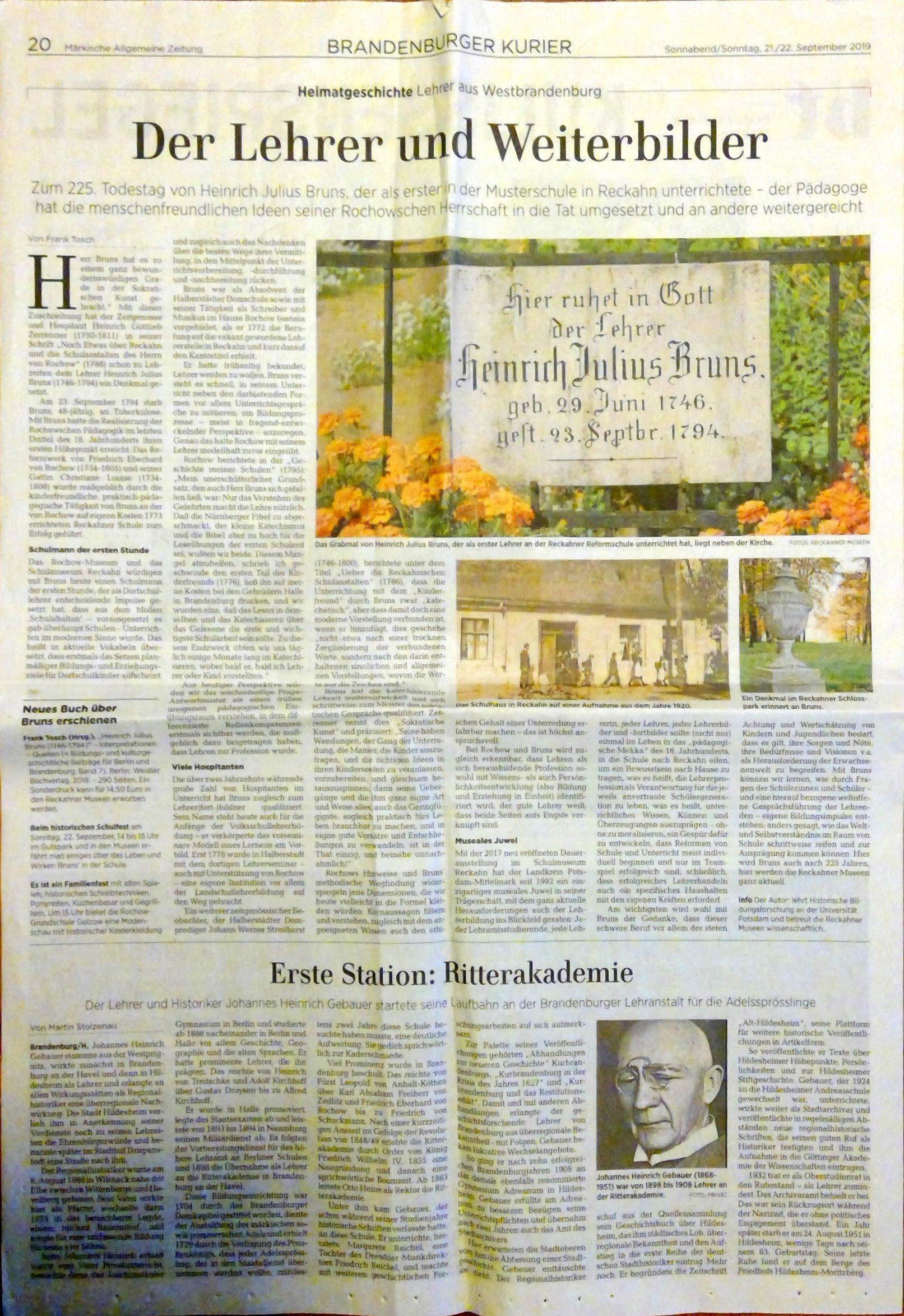 Heinrich Julius Bruns - Namensgeber unserer Schule