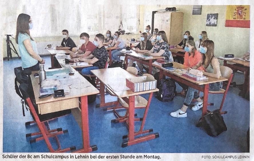 Zurück in der Schule: Präsenzunterricht in Lehnin und Ziesar gestartet